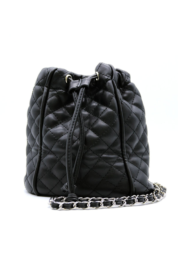Quilted Chain Bucket Bag