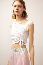 Grace Asymmetric Ruched Top