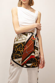 Julia Glam Print Wrap Skirt