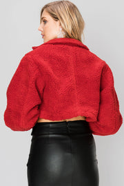 Mindy Cropped Teddy Jacket-2 Colors