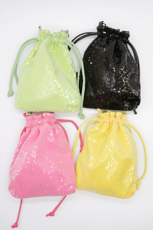 Glitter Mini Bucket Bag