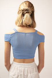 Evelyn Ruched Crop Top