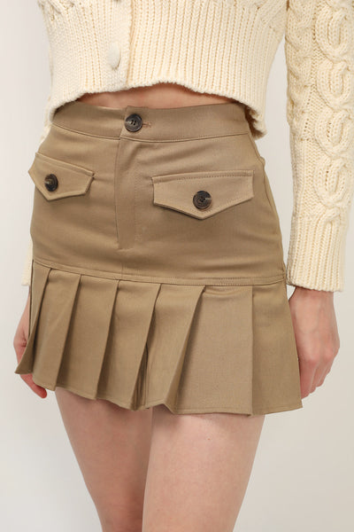 storets.com Katie Pleated Hem Skirt