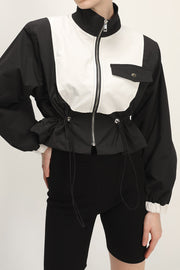 storets.com Laila Color Block Bomber Jacket