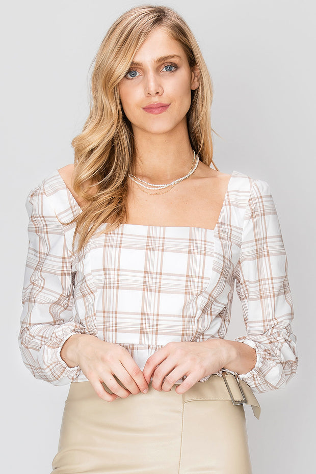 Victoria Cropped Squareneck Top