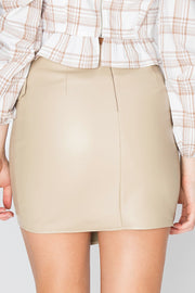 storets.com Dorothy Side Buckle Pleather Skirt-2 Colors
