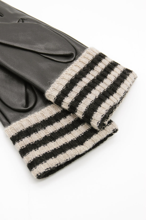storets.com Knit Cuff Pleather Gloves