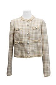 Amaya Puff Sleeve Tweed Jacket