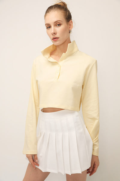 storets.com Hailey Collared Crop Shirt