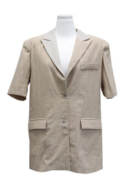 Sophie Striped Linen Jacket