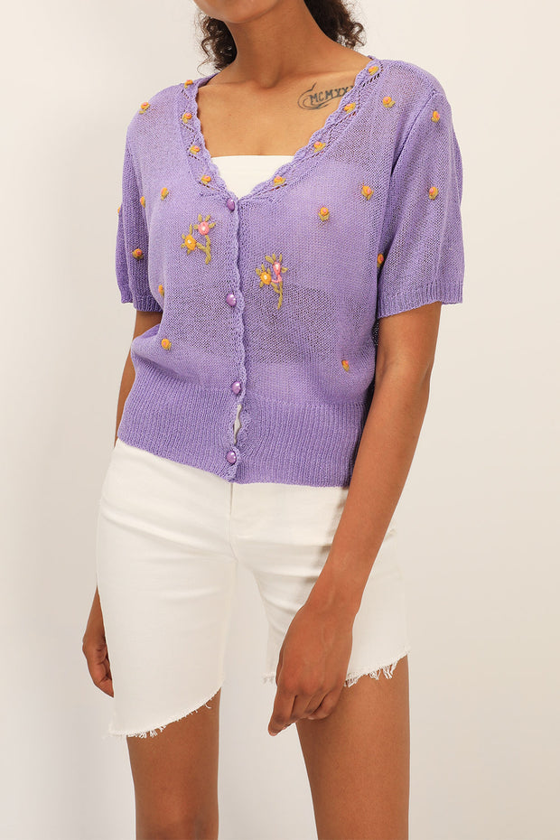 Joelle Floral Embroidered Cardigan