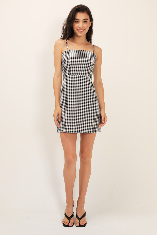 Rory Gingham Pinafore Dress