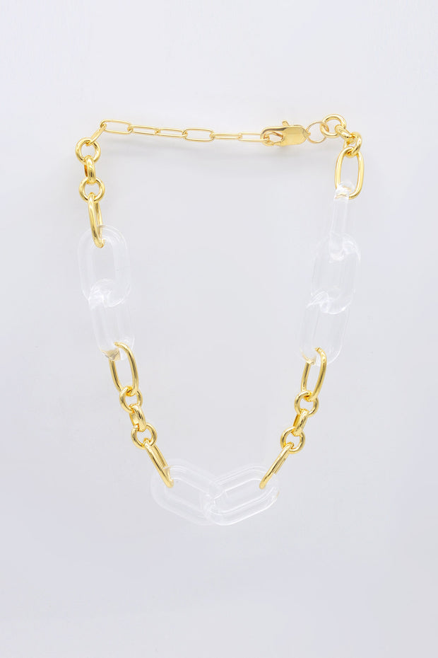 storets.com Acrylic And Chain Necklace