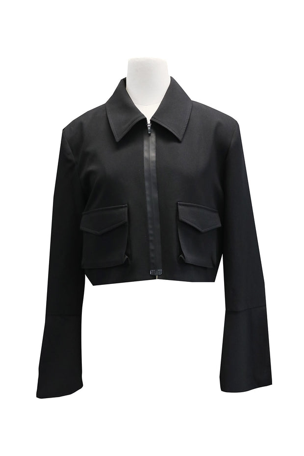 Nina Slit Cuff Cropped Jacket