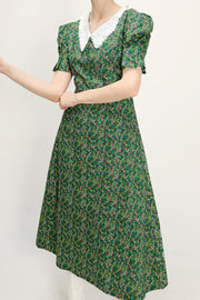 storets.com Alaia Lace Collar Floral Dress
