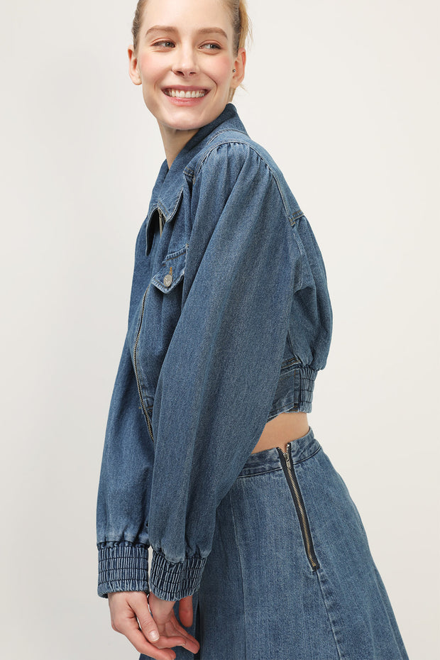 storets.com Daniela Denim Crop Jacket