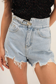 storets.com Kassidy Shredded Denim Shorts