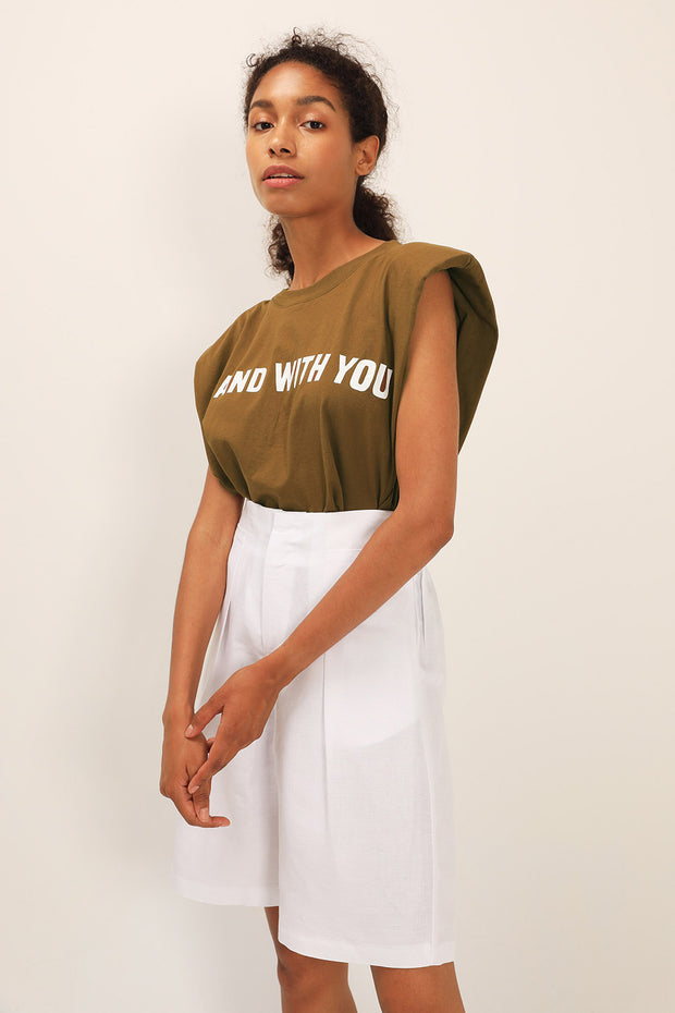 storets.com I Stand With You Padded Shoulder Muscle Top
