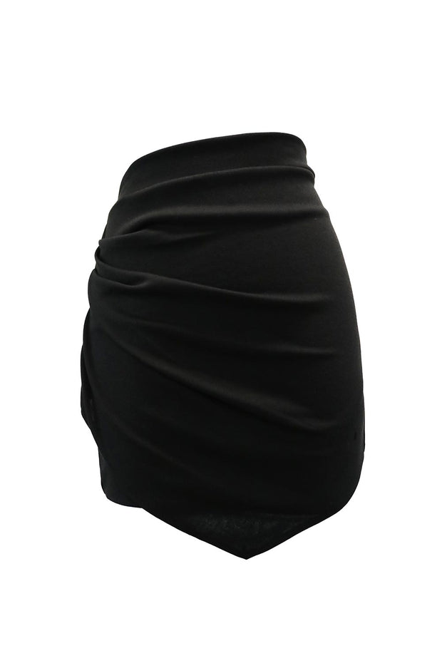 Allie Ruched Wrap Effect Skirt