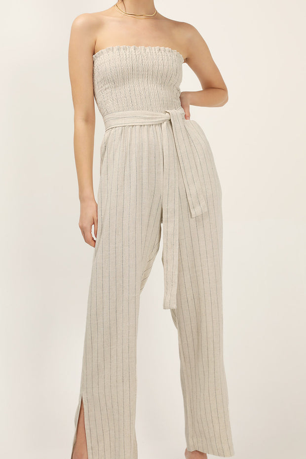 storets.com Hayley Pin Stripe Jumpsuit