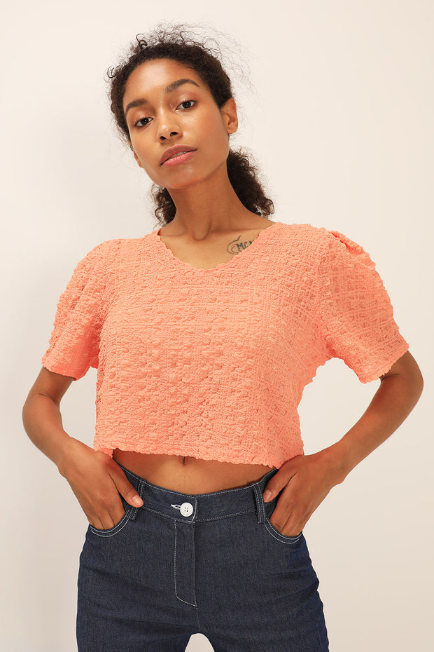 storets.com Hazel Textured Crop Top