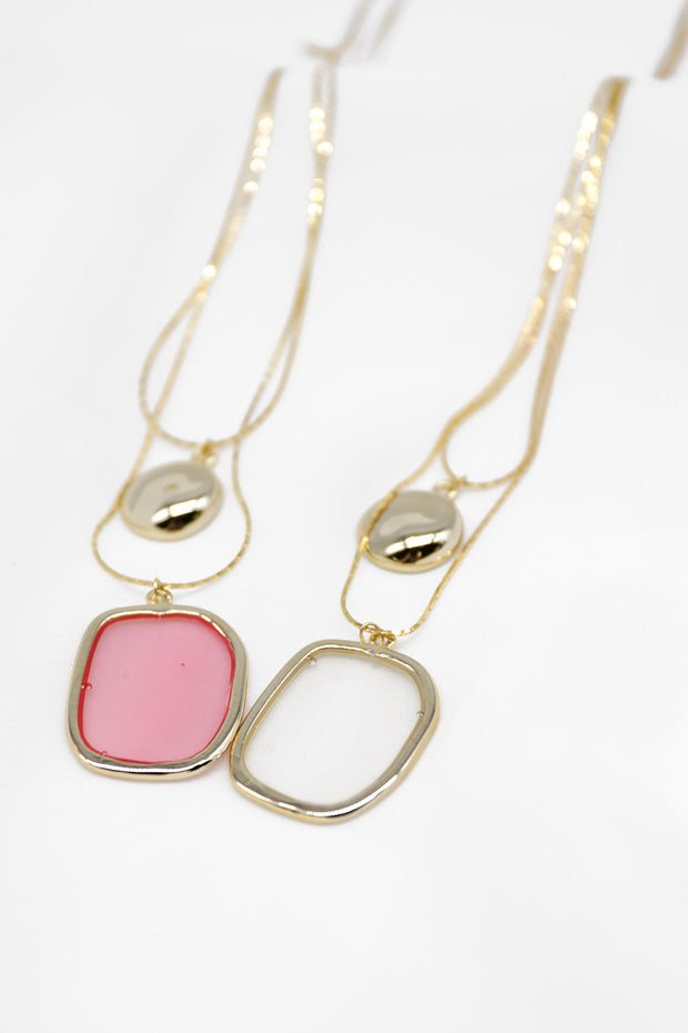 Statement Pendant Layered Necklace