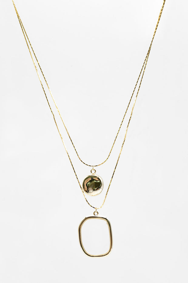 storets.com Statement Pendant Layered Necklace