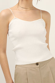 Crystal Ribbed Tank Top