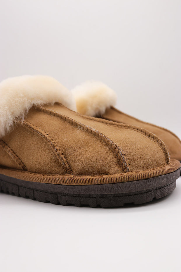 storets.com Fluffy Furry Closed Toe Mules