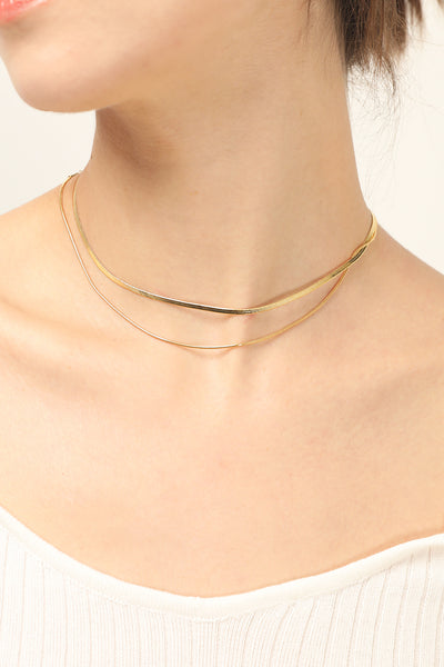 storets.com Layered Snake Chain Necklace