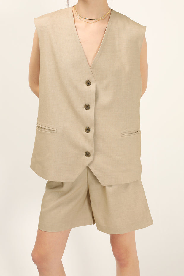 Harlee Oversized Sleeveless Blazer