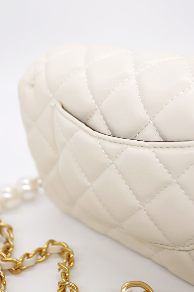 storets.com Quilted Pleather Mini Chain Bag