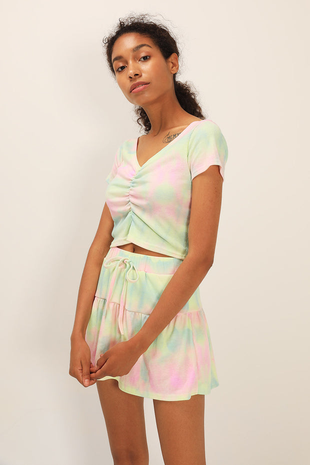 storets.com Aubrie Tie Dye Top and Skirt Set