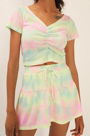 Aubrie Tie Dye Top and Skirt Set
