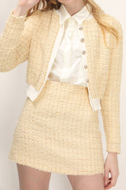storets.com Marie Tweed Cropped Cardigan