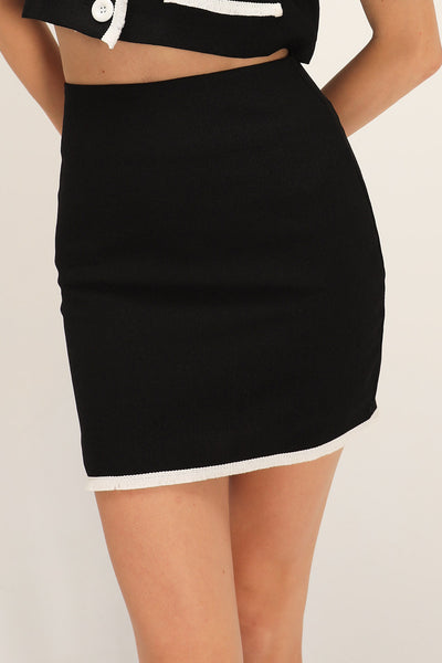 Belle Contrast Trim Skirt