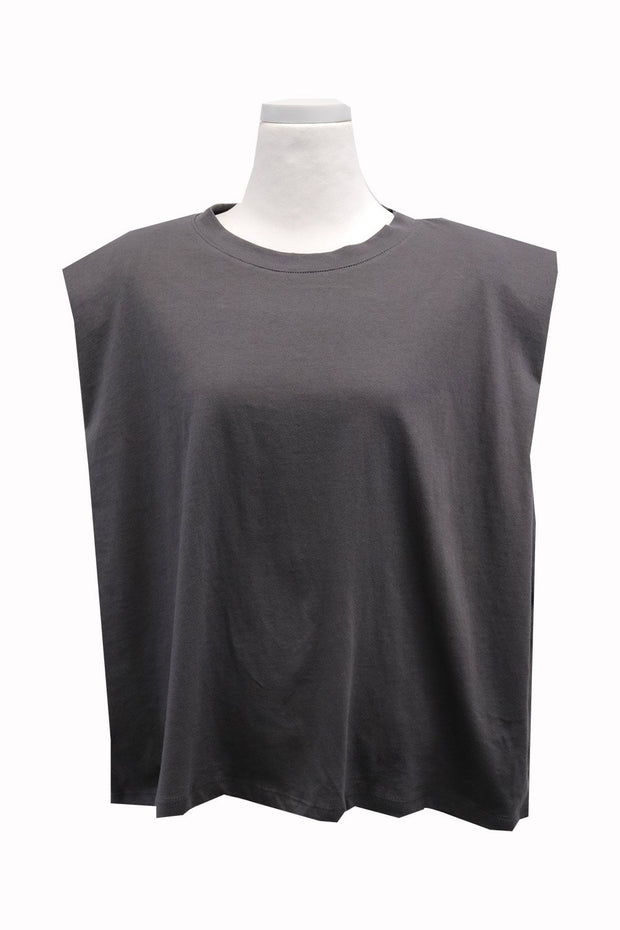 Elena Padded Shoulder T-shirt