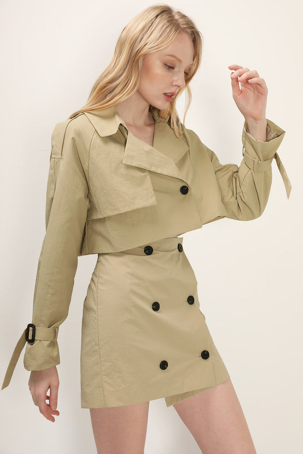 storets.com Bianca Cropped Trench Jacket