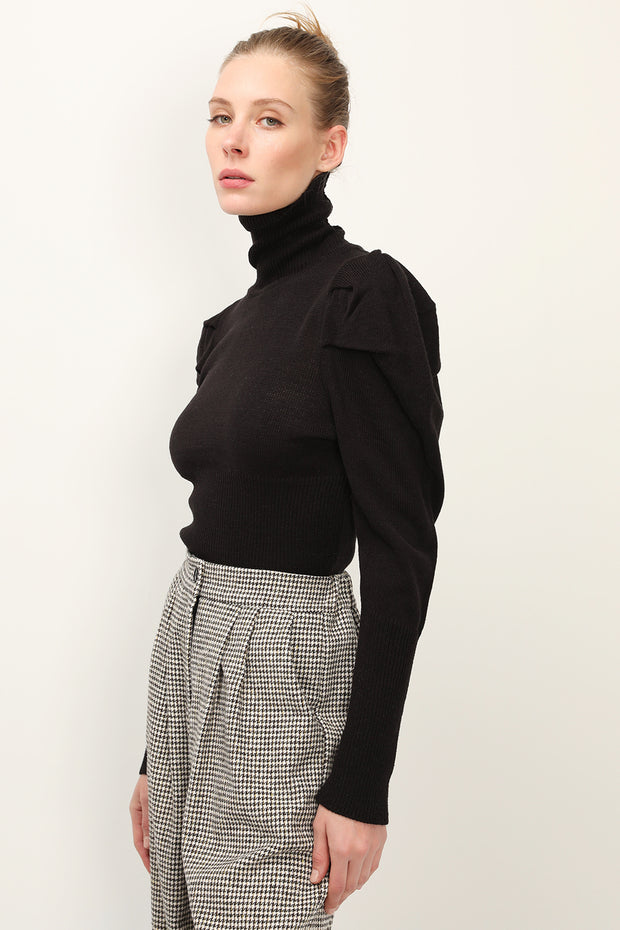storets.com Camilla Puff Sleeve Ribbed Knit Top