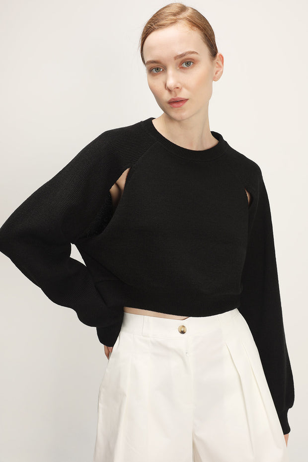 Rowan Slit Detail Cropped Sweater