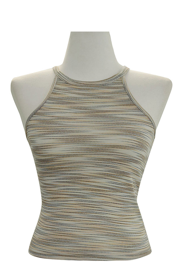 Maya Mottled Striped Halter Top