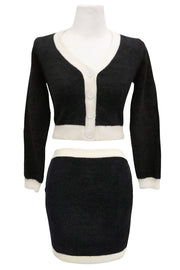 storets.com Valentina Fuzzy Cardigan And Skirt Set