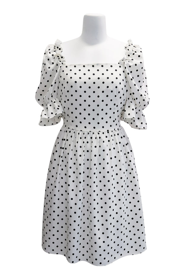 storets.com Emily Square Neck Polka Dot Dress