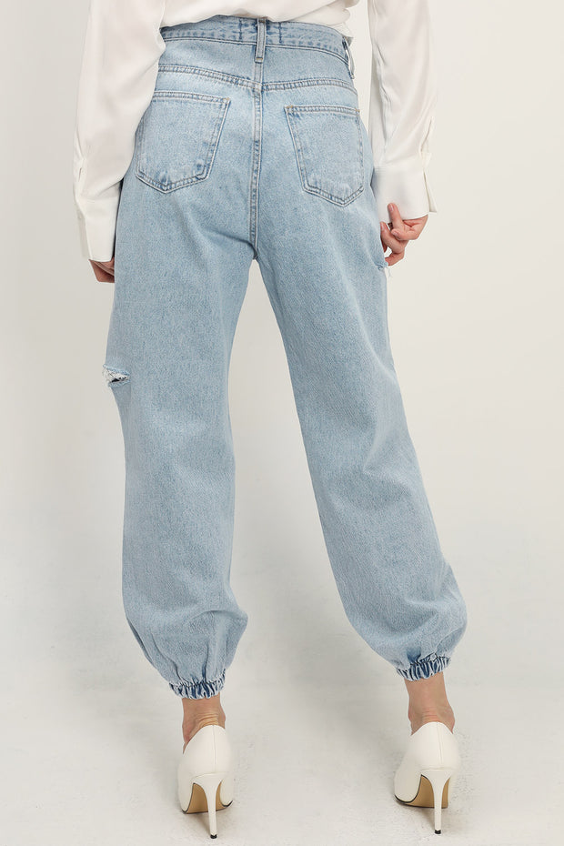 storets.com Aliyah Slash Denim Joggers