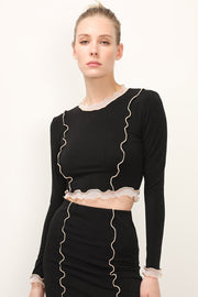 storets.com Gwen Lettuce Trim Crop Top