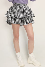 storets.com Aria Gingham Tiered Skirt