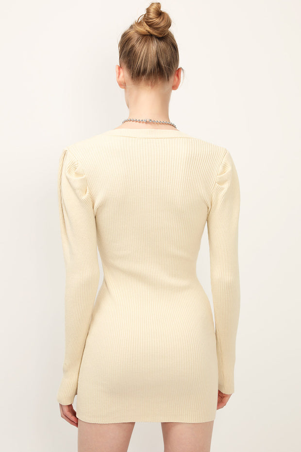 storets.com Aubrie Puff Sleeve Knit Dress