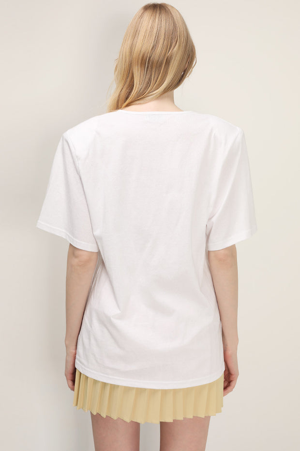 storets.com Jessica Padded Shoulder T-Shirt