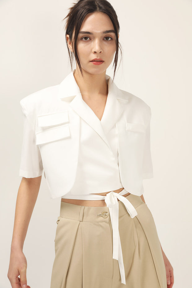 storets.com Macy Wrap Around Cropped Jacket