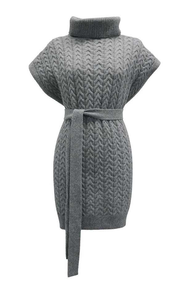 storets.com Emma Belted Cable Knit Sleeveless Top